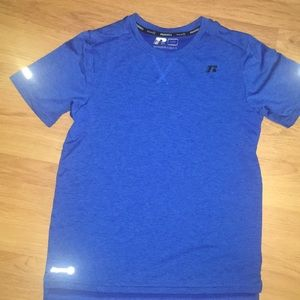 Boys EUC RUSSELL L DRI-POWER POly SS SHIRT
